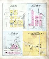 Aztalan, Cold Spring Plat, Winfield Plat, Helenville P.O. Plat, Jefferson County 1899